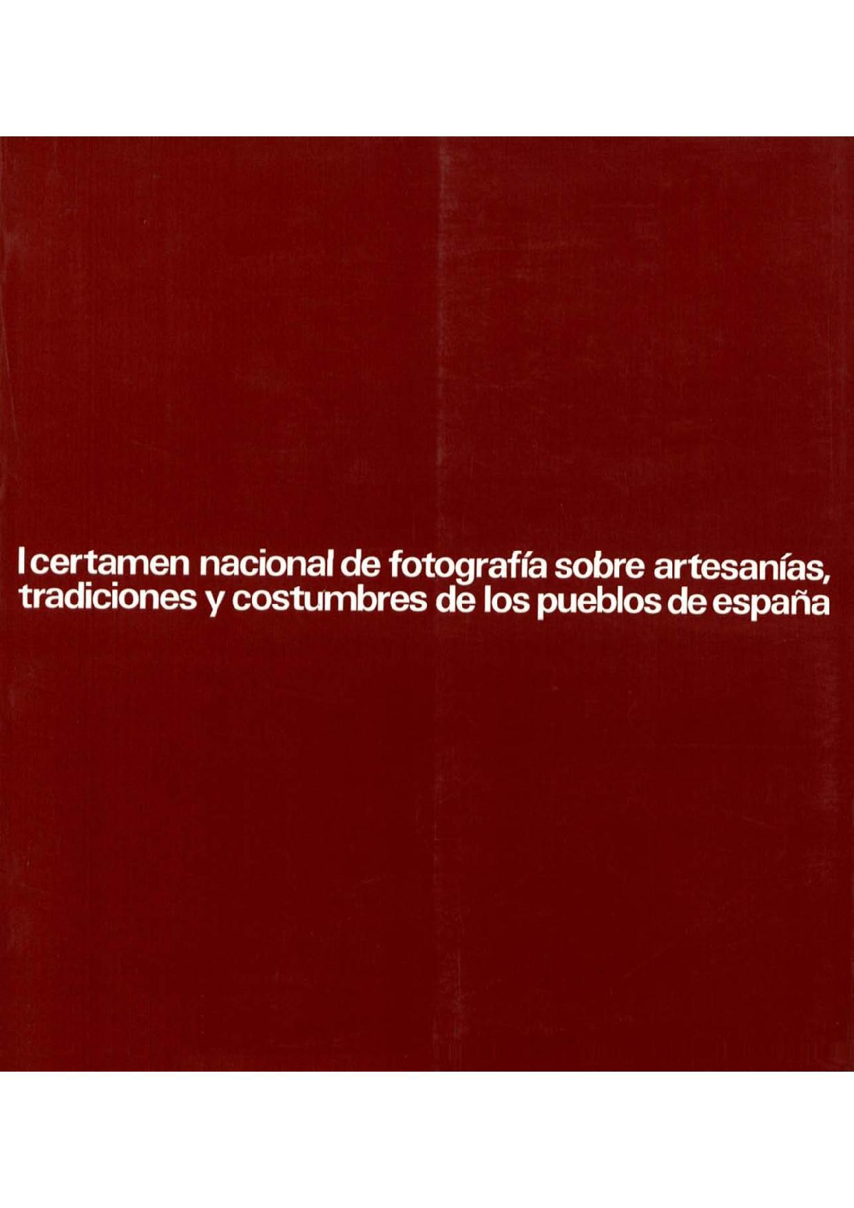 I certamen nacional de fotograf a sobre artesan as for Artesanias de espana
