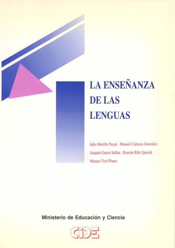 La ense anza de las lenguas publicaciones ministerio for Ministerio de ensenanza